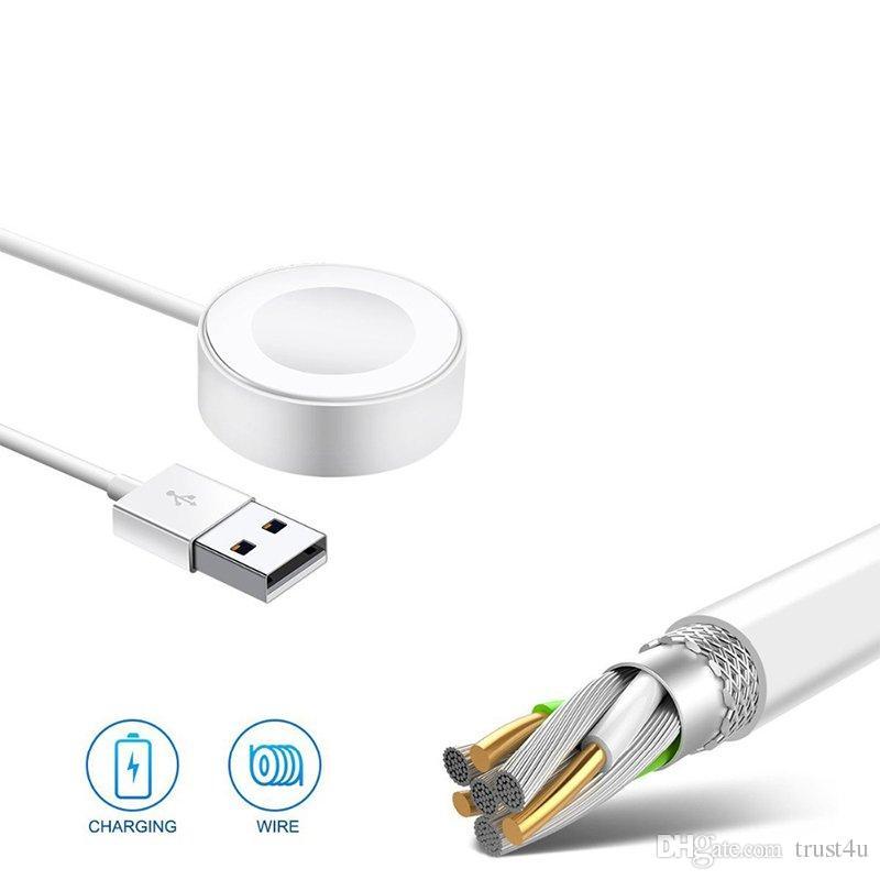 a8ed0e12e44 Compre Cargador Magnético Inalámbrico Para Apple Watch Series 4 3 2 1  Soporte De Adaptador Protable Pad De Carga Rápida Para IWach Series 38mm  42mm A $4.03 ...