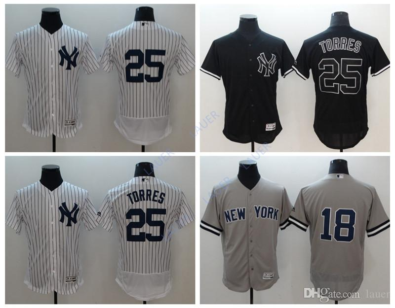 new arrival 88495 42c95 New York 25 Gleyber Torres Yankees Jersey 18 Didi Gregorius Stitched  Baseball Jerseys