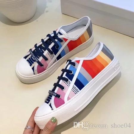 e8d0d4b84 Woman Casual Shoes Sneaker Flat Trainers Walking Sports Trainers Canvas  Shoes Brand Designer Shoes Original Rubber Sole Eu 35 40 With Box 03 Mens  Casual ...