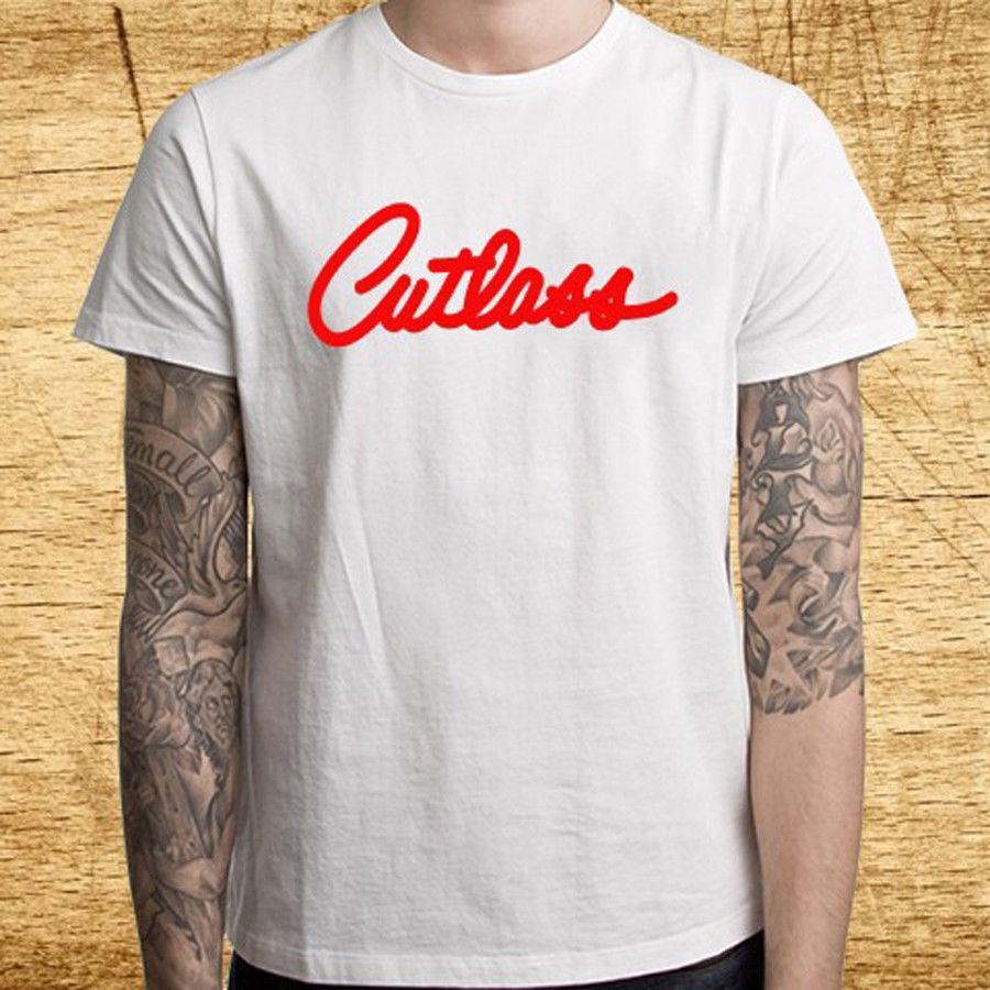 a1eaa788 Cutlass Oldsmobile Emblem Racing Logo Men's White T-Shirt Size S M L XL 2XL  3XL Official T-Shirt New ,T Shirt Top Tee, Mens 2018 New Tee,