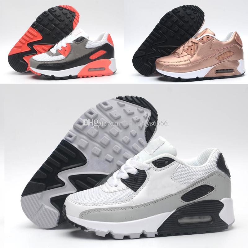 62fa88ee0c8 Compre 2019 Nike Air Max 90 Crianças Tênis Presto 90 II Crianças Esportes  Ortopédicos Juventude Crianças Formadores Infantil Meninas Meninos Ao Ar  Livre ...