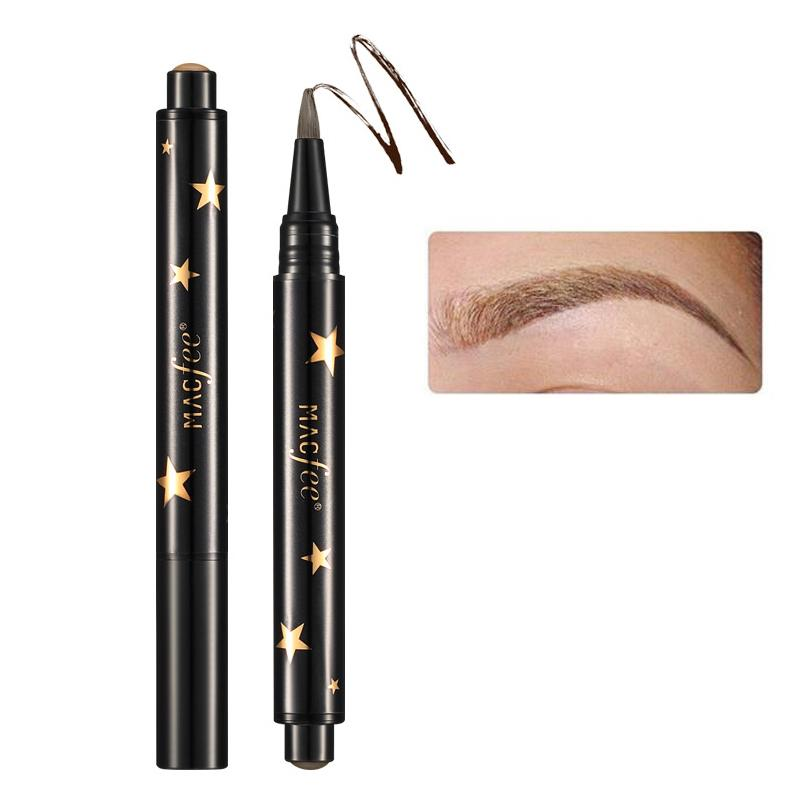 Black Brown Eye Brow Tattoo Maleup Kit Long Lasting Waterproof