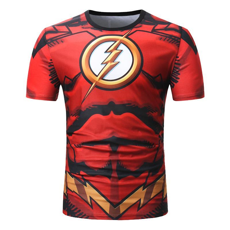 Nueva De Impresión Hombre Manga Para Verano Camiseta Tops 2019 Hombres Marca Corta O 3d Roja Delgado Moda Cuello yv8wPmNn0O