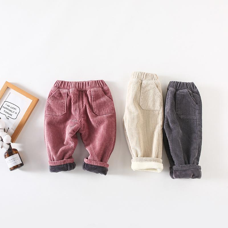 7d12a378d4d Newborn Baby Boys Girls Pants Winter Autumn Corduroy Cotton Casual Trousers  Korean Style Kids Velvet Pants Baby Trousers Wear Slim Fit Dress Pants For  Boys ...