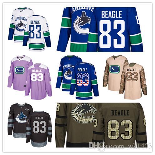 super popular 08b7f 117d7 Vancouver Canuck jerseys #83 Jay Beagle Jersey hockey men women youth  Alternate royal blue home white away Stiched Third Premier Jerseys