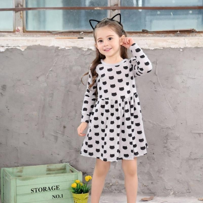 2019 Toddler Girl Fall Dresses 2019 New Brand Infants Dress Kids