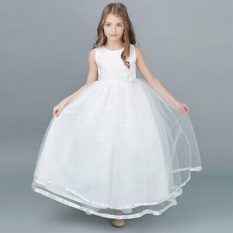 303e3d2c5225 Charming Princess Ball Gown Girls Party Prom Birthday Kids Flower ...