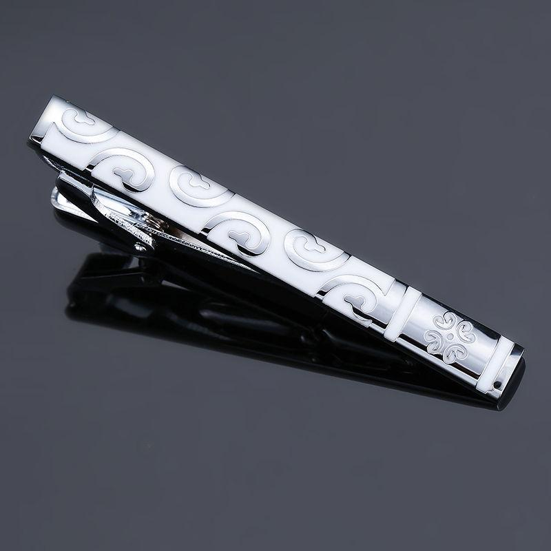 DY new high-quality enamel men's wedding tie clip high-end brand luxury design exquisite pattern crystal tie clip Free Delivery