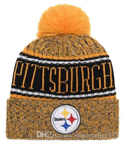ecb5c0f70cf 2019 2019 Winter Pittsburgh Beanie PIT Skull Hats Knitted Wool Cuffed  Sideline Cold Weather Beanies Sport Knit Hat Bonnet Warm Hip Hop Cap From  ...