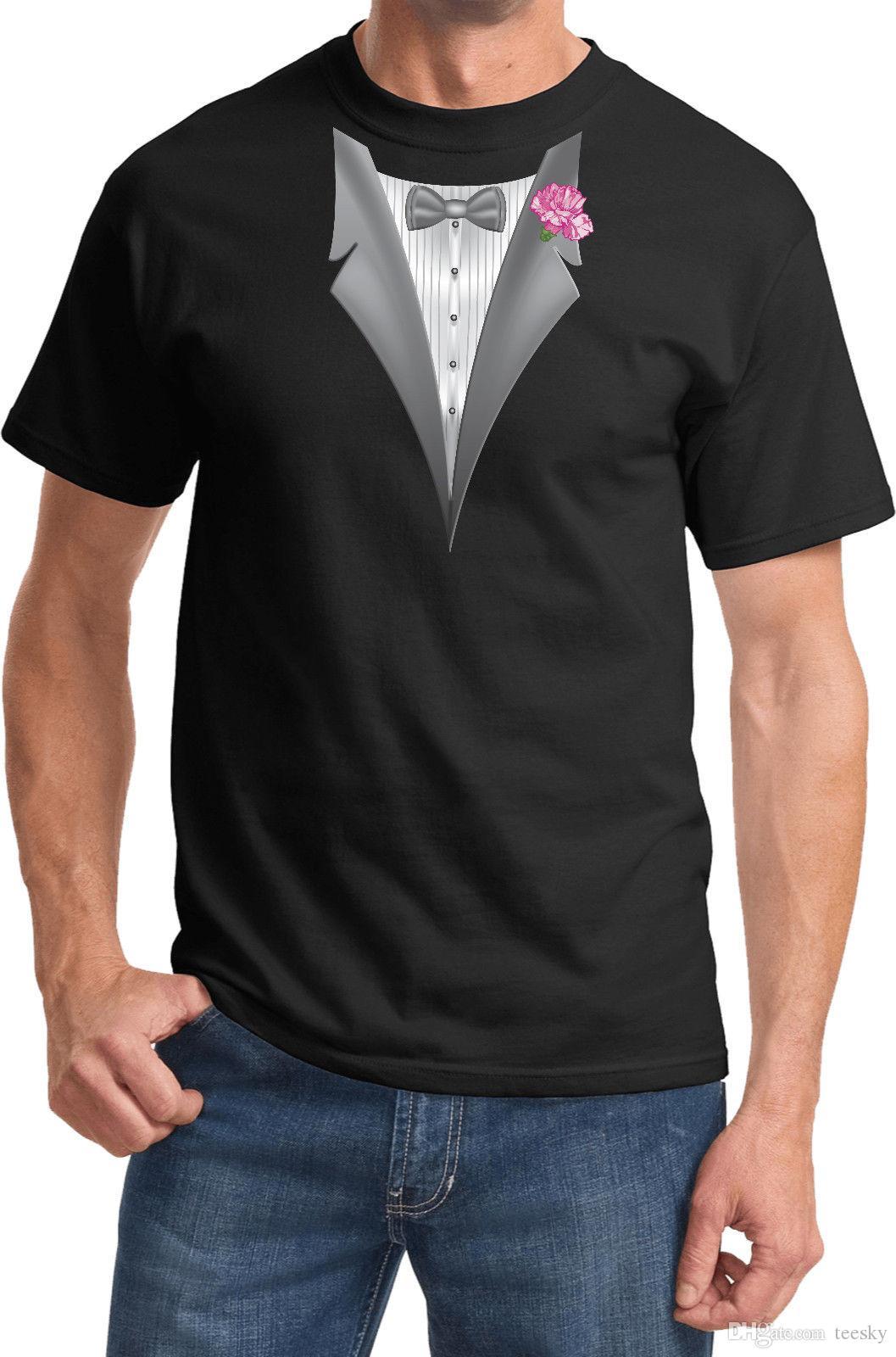 e2465570 Tuxedo T Shirt With Pink Flower | Top Mode Depot