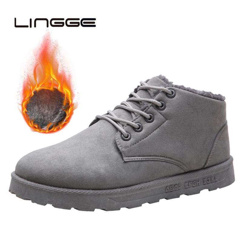 Compre LINGGE Hombres Moda Casual Lace Up Botas De Gamuza Ronda Toe Suede  Botines Hombre Negro Gris Marrón A  30.96 Del Ycqz  496bb63a7e6ea