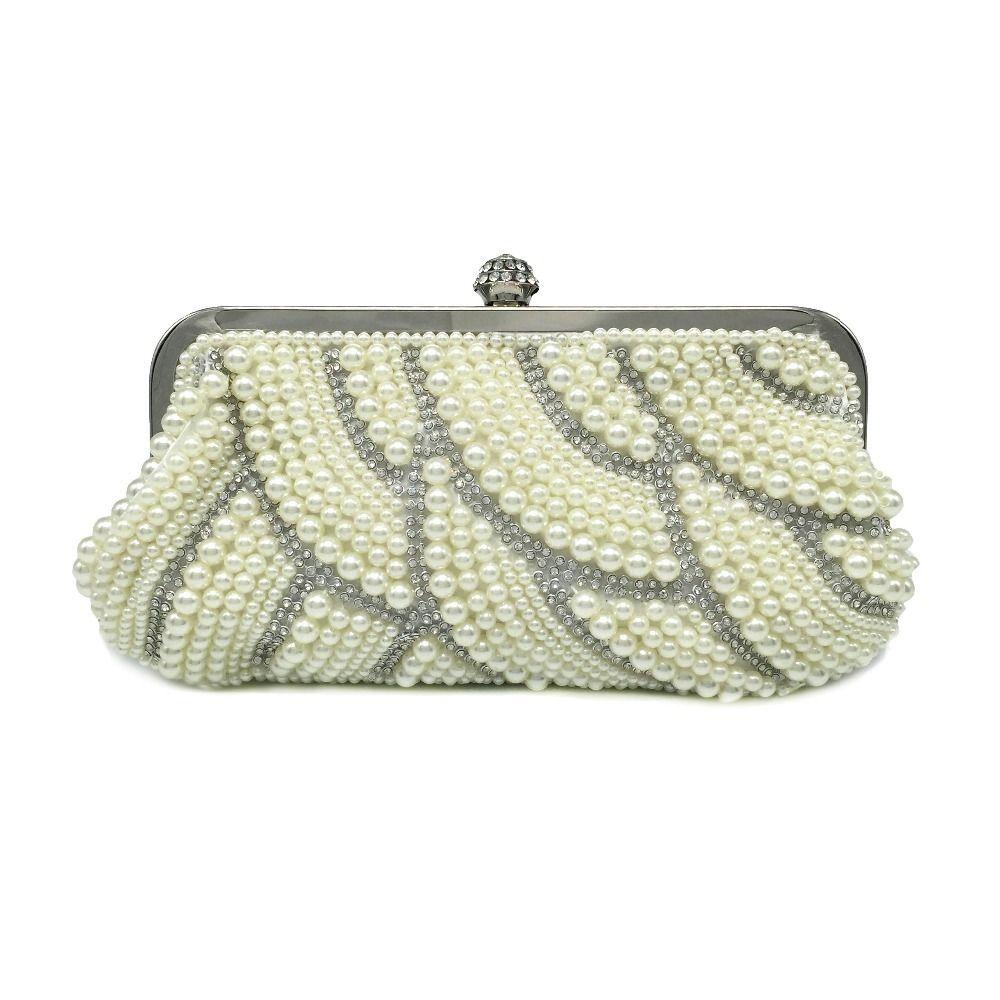 ac45b539cb 2019 Pearl Beaded Women Bag Hot Fashion Women Pearl Evening Bags With  Diamond Elegant Wedding Party Clutches Ladies Bag Purses Designer Handbags  From ...