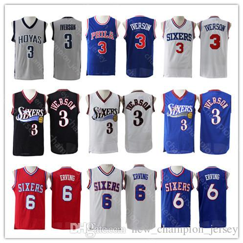 185ff17a549 Very Popular Men s Julius Erving Philadelphia Jersey 3 Allen Iverson ...