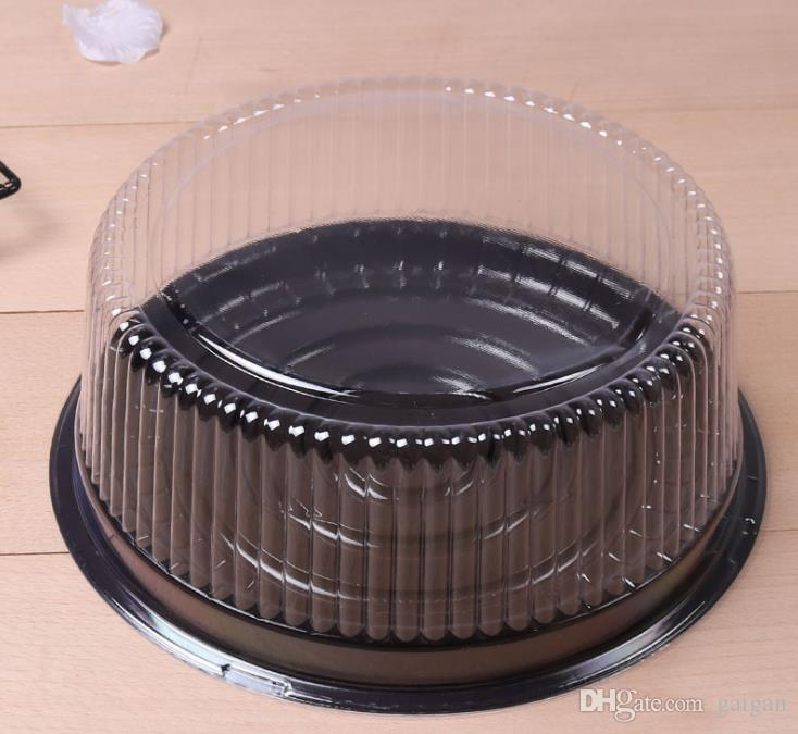 big round cake box/ 8 inches cheese box /clear plastic cake container / big cake holder Free Shipping zhao