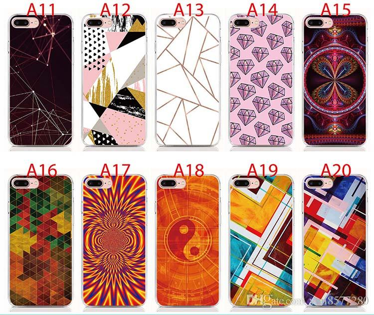 For Samsung Galaxy A50 A40 A30 Note 9 8 7 5 4 case Soft TPU Print pattern Creative Geometric High quality phone cases