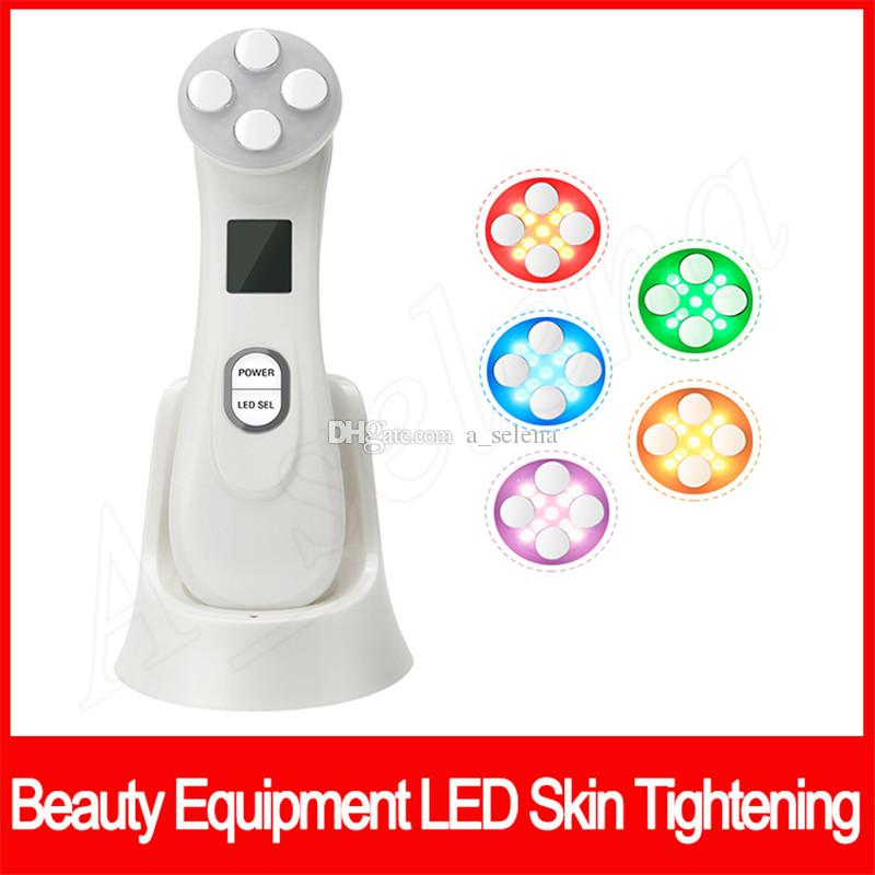 RF&EMS Beauty Equipment 5 in 1 LED Skin Tightening Radio Frequency LED Photon Machine Acne Blackhead Skin Rejuvenation Face Care Tool