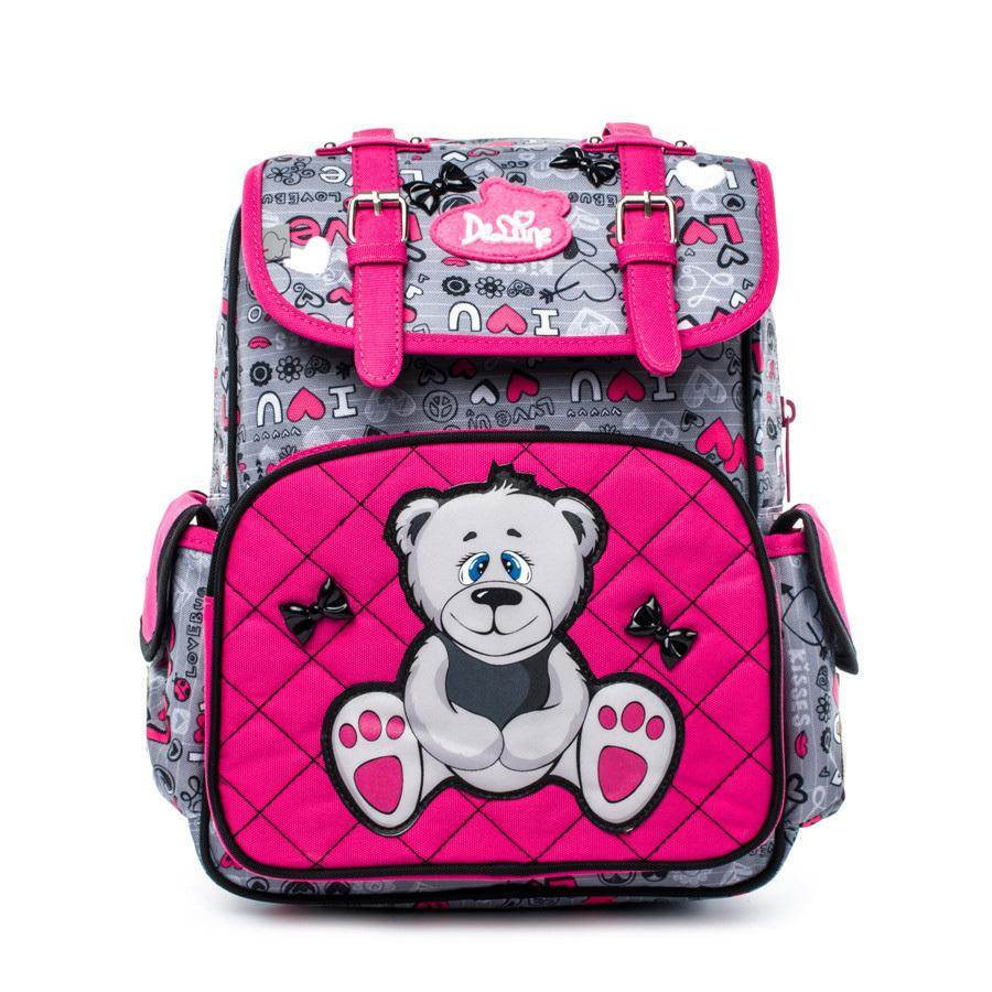 Delune Kids Orthopedic Backpack 5 8 Years Children Cartoon Bear Waterproof School Bag Girls Boys Birthday Gifts Mochila Infantil Suitcases Overnight