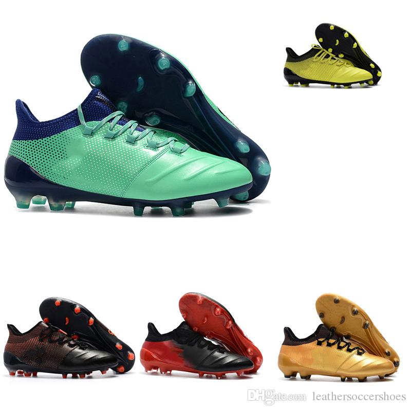 1d640fa48786 2018 Outdoor Mens Womens Soccer Cleats X 17.1 Leather FG Soccer ...
