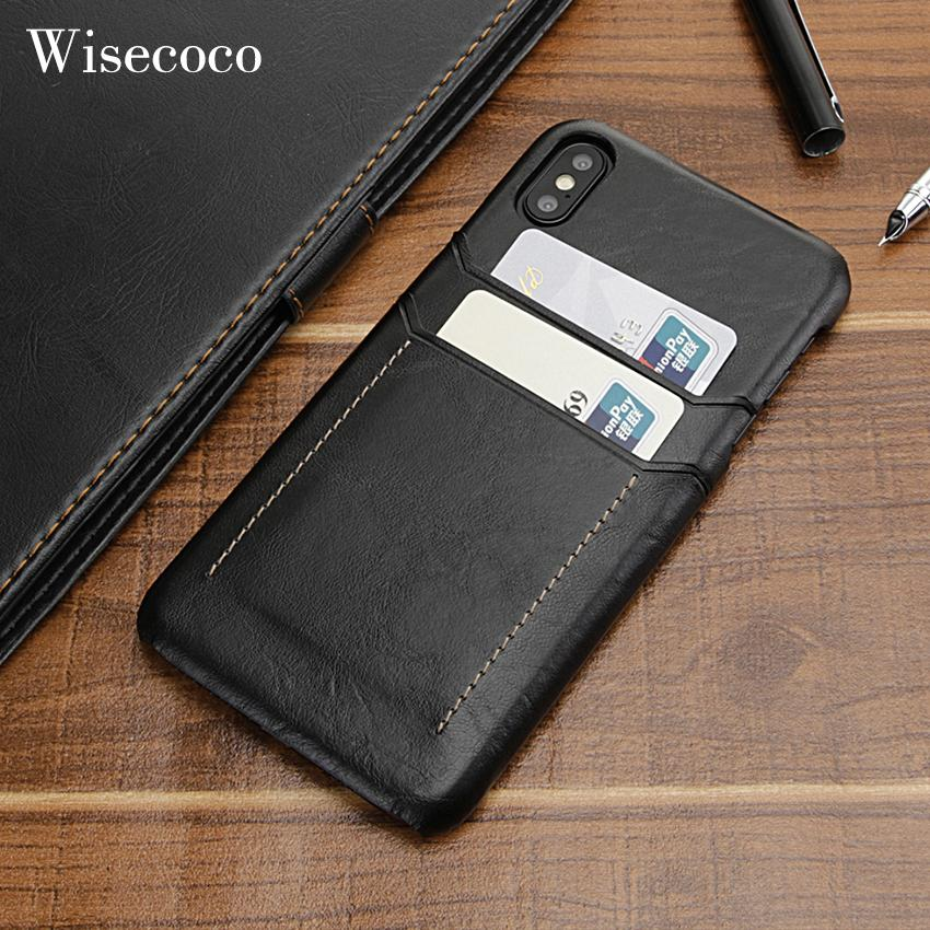 Card Holder Case For Iphone X Xs Max Xr Luxury Leather Wallet Shockproof  Slim Hard Back Cover Phone Coque For IPhone Xs Funda Jeweled Cell Phone  Cases Cell ... de6e8b2fa4ba