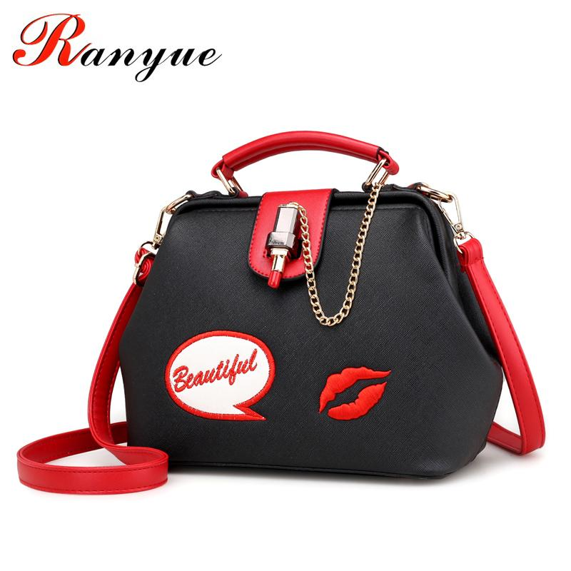 Ranyue Handbag 2019 Fashion Lipstick Crossbody For Women Pu Leather Messenger Bag Brand Bolsos Bags Sac A Main J190505