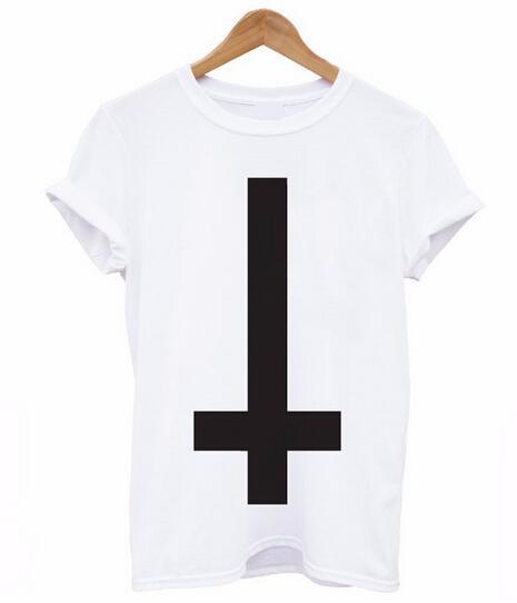 2df35d6ae Inverted Cross Printed Men T Shirt Religion Swag Hipster Girl Retro ...