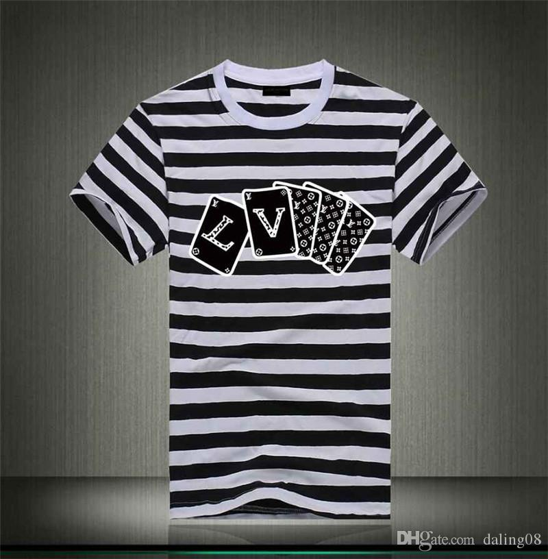 Brand summer t shirt mens casual short sleeve cotton tops tees print supply men t shirt hip hop male T-shir 08