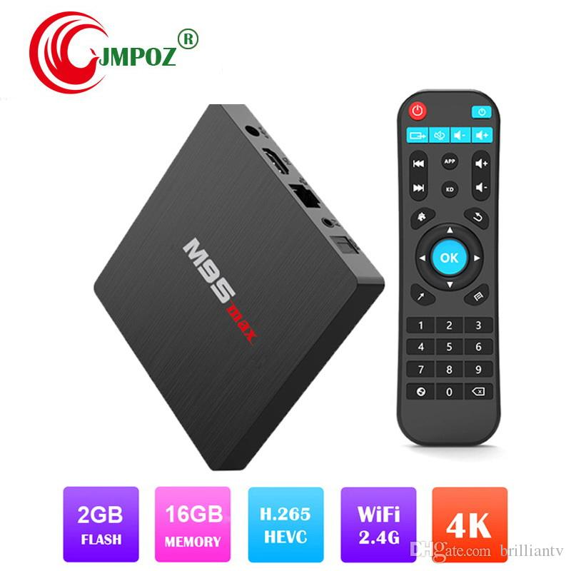 Hot TV Media Player multimediale M9S MAX S905W TV Box 2 GB 16 GB 4K tv box Android 7.1 2.4G WiFi Lan HDMI 4K H.265 IPTV streaming giocatori