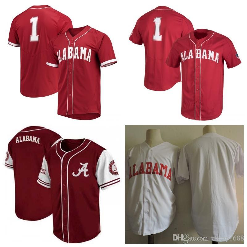 size 40 47ad8 58111 Custom 2019 Alabama Crimson Tide College Baseball Jerseys Men Women Youth  Stitched Any Name Any Number NCAA Elite Baseball Jersey S-4XL
