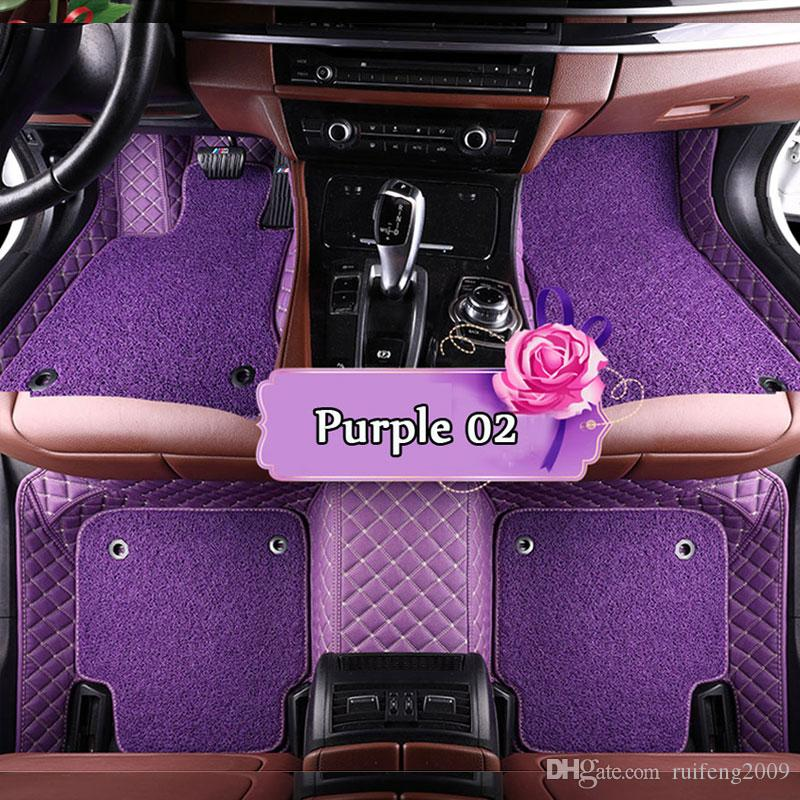 Car floor mats for Mercedes Benz A C E W204 W205 E W211 W212 W213 S class CLA GLC ML GLE GL rug Two layers of car-styling liners