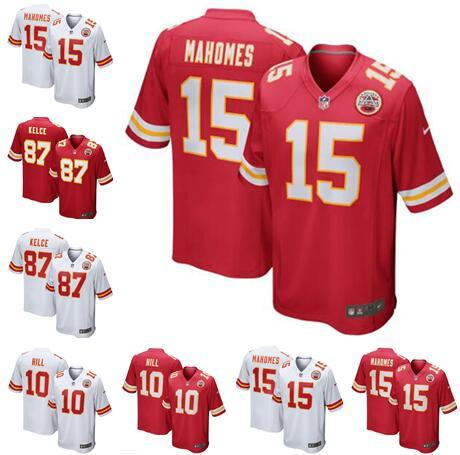 info for 6bdbe fe911 Men s womens kids youth Kansas City Jerseys Chiefs #15 Patrick Mahomes II  10 Tyreek Hill 87 Travis Kelce Football Jersey