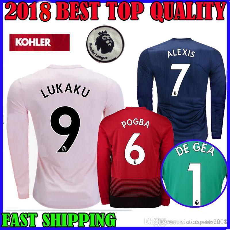 203cd45f4 Jerseys S-XL  1 De GEA 18-19 Manchester United Home Mens Soccer Jersey Green