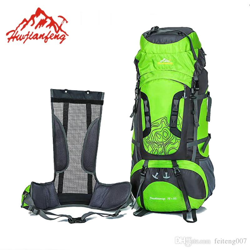 be21c541d98e 80 Liters Professional Waterproof Mountaineering Backpack Large Nylon  Outdoor Bag For Climbing Hiking Camping Rucksack HAB017 #266151