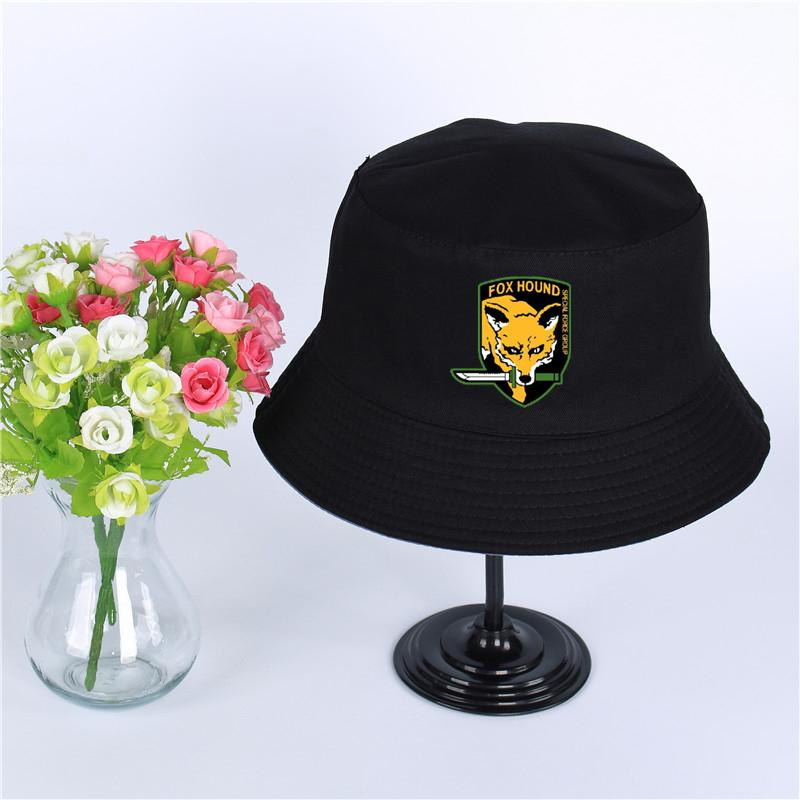 703720e76 MGS Fox Hound Logo Hat Women Mens Panama Bucket Hat MGS Fox Hound Design  Fishing Fisherman Hat