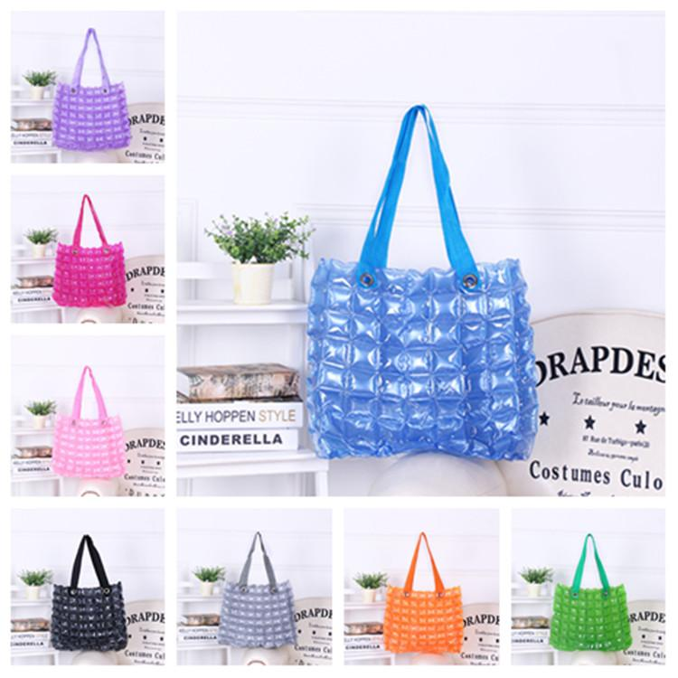 new designer handbags Waterproof Bag Zipper Solid Color PVC Inflatable Women Bags Beach bag Shopping Lady Storage BagsT2D5046