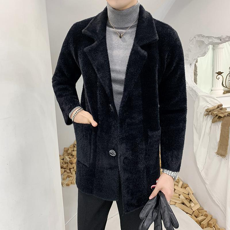 b750cc5136 2019 Men Winter Thick Warm Business Casual Water Velvet Trench Coat Male  Fashion Slim Fit Jacket Overcoat Windbreaker From Zhaolinshe