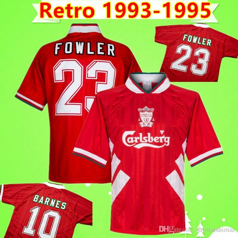 best website c5c0e 5cfc0 1993-1995 Liverpool Retro 1993 1994 1995 camisa de futebol 93 94 95 vintage  STEWART CLOUGH soccer jersey classic FOWLER RUSH BARNES football shirt ...