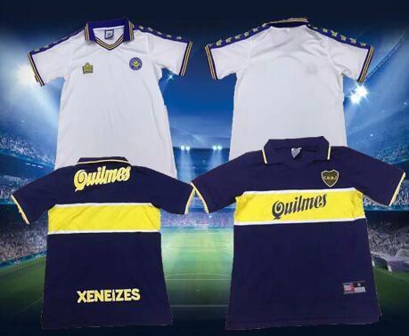 low priced f9322 12276 97 98 Boca Juniors Retro Soccer Jersey Maradona Vintage Caniggia 1997 1998  MAGLIA Classic Football Shirts Maillot Camiseta de Futbol