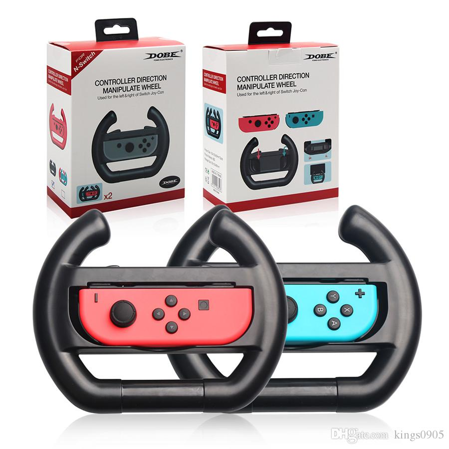 DOBE Anti-Slip A Pair Steering Wheel Gamepad Joy-Con Grip Racing Game  Controller Protective Handle Holder for Nintendo Switch