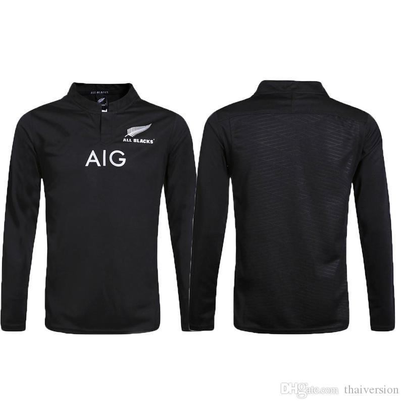 Compre Top Quali Zelândia Todos Os Negros De Manga Comprida Camisa De Rugby  Camisa De 2015 2016 2017 Temporada 627c6dc443de7