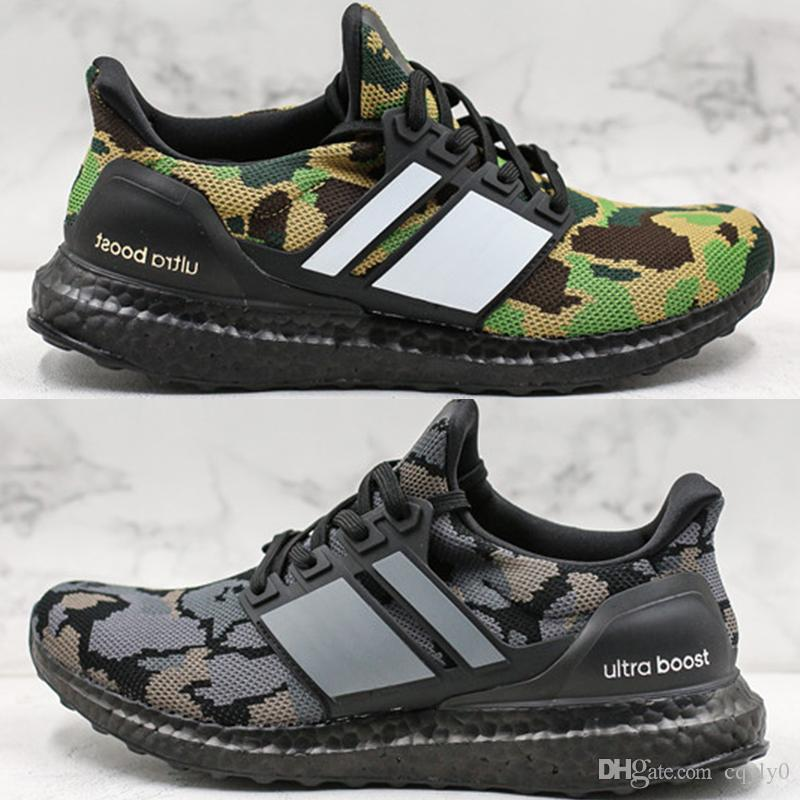 buy online 4047a 22b2a High Quality Ape Ultra Boost Camo Pack Shoes 2019 New Fashion Men  Ultraboost UB Black Grey Green PK Sneakers Size 40-44