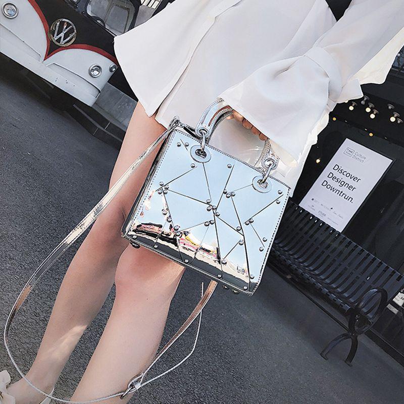 0786b5588b7d DAUNAVIA Handbag Mirror Women Bag New Fashion Tote High Quality PU Leather  Handle Shoulder Bag Female Designer Crossbody Handle Mirror Women Bag PU  Leather ...
