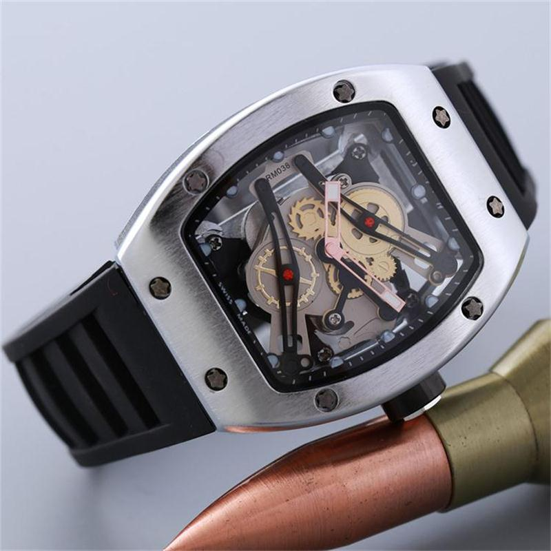 GO Luxury Skull sport Watches men Quartz Watches Silica Gel Strap quartz watch Fashion Skeleton men's Quartz Watches Wholesale
