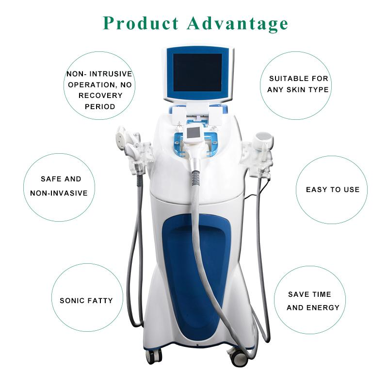5 IN 1 velashape equipment pressure body slim machine fat loss vacuum slimming cavitation rf weight loss by CE
