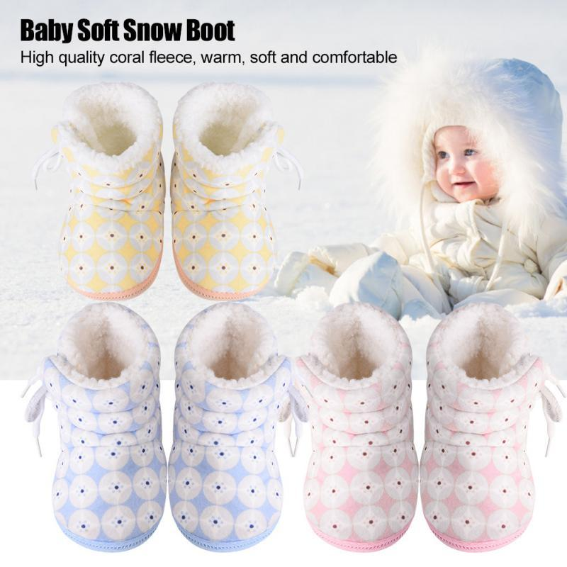 0ec3cd82ee41 Baby Infant Soft Boot Cute Coral Fleece Winter Snow Boots First ...