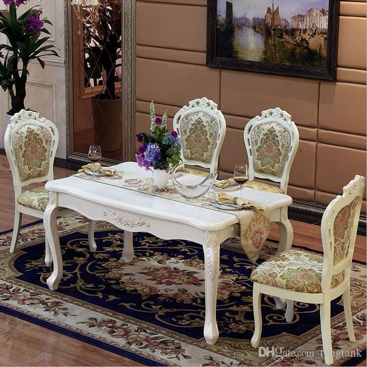 Acheter Table De Salle À Manger Italienne De Style Moderne, 100% En Bois  Massif Table De Salle À Manger En Marbre De Style Italien De Luxe Réglée  Pfy10027 ...