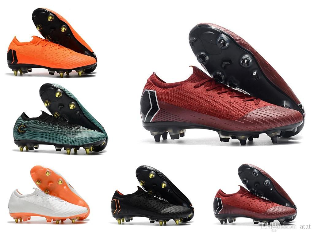info for 9cb7a 63ac8 2018 World Cup Mens Soccer Cleats Mercurial Superfly VI 360 Elite SG AC  Steel Spikes Soccer Shoes High Ankle Chaussures De Football Boots