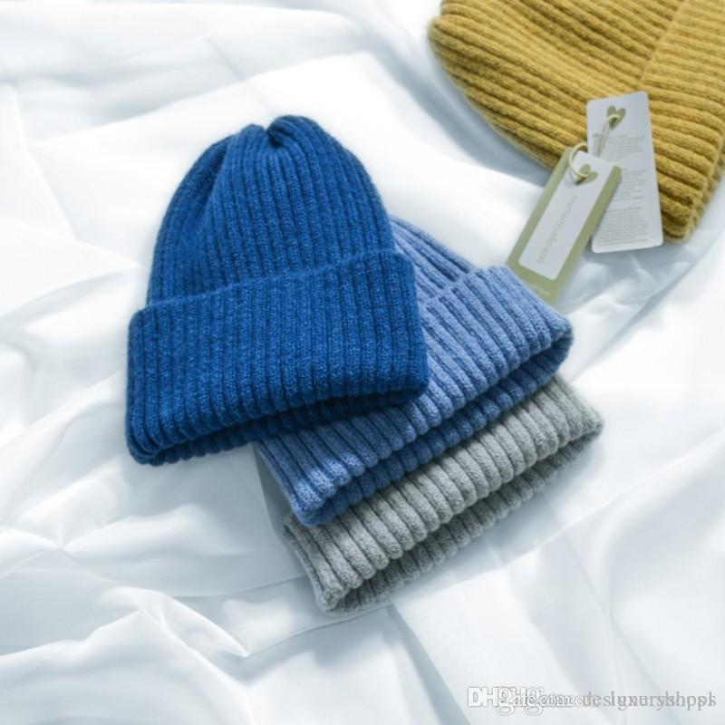 Hat Female Winter-Korean Edition Simple Warm Wool Cap Pure-color Literature and Art 100 Sets Knitted Candy Cap Ear Protector Cap