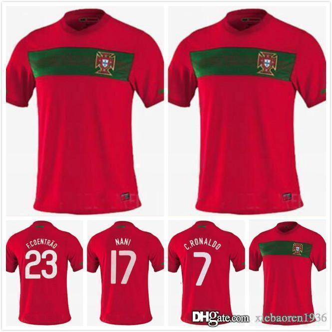 best loved 7713f 19ca6 10 11 Portugal home retro soccer jersey 2010 2011 Portugal South Africa  World Cup jersey RONALDO NANI S-XXL retro football shirts