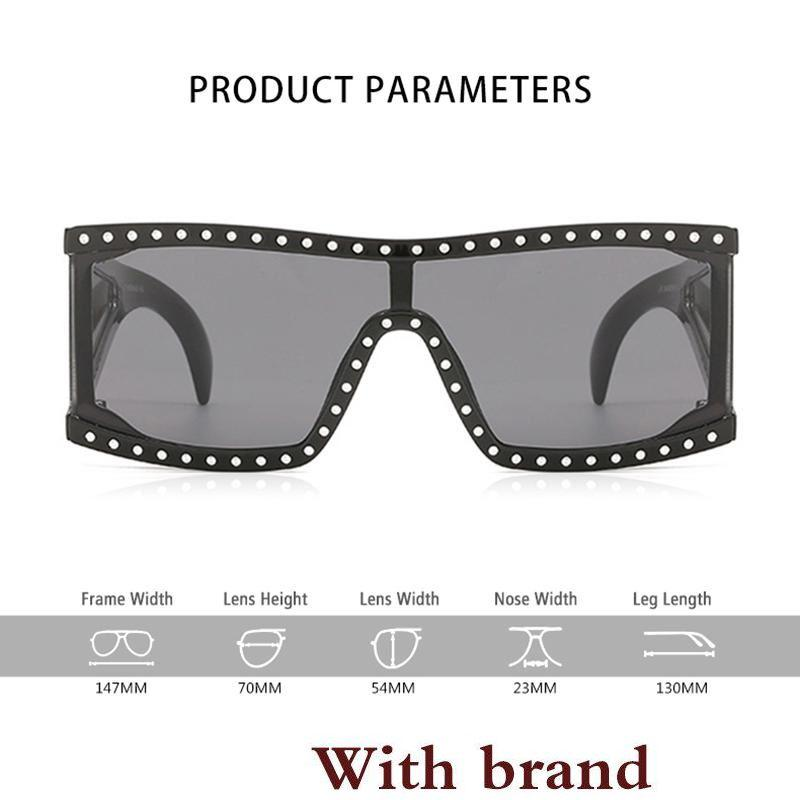 d3dde5c2bf3e GIRL Luxury Square Sunglasses Women Oversize Shield Sun Glass Female Vintage  Flat Top Rhinestones Unisex Oculos SS878 Mens Sunglasses Police Sunglasses  From ...
