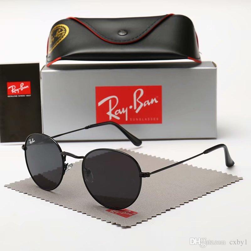 89bed11e48c19 2019 Aviator Ray Sunglasses Vintage Pilot Brand Sun Glasses Band UV400  Protection Bans Men Women Ben Wayfarer Sunglasses With Box Case 3447  Cycling ...